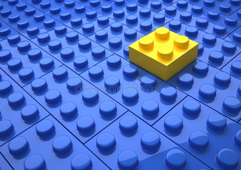 Jogo de Lego ilustração do vetor