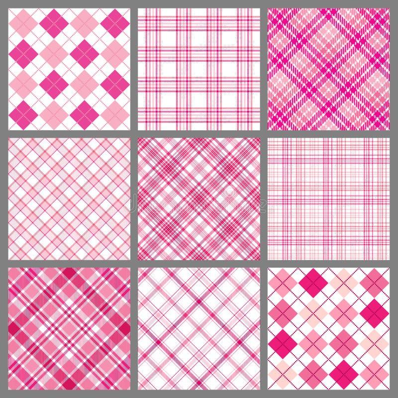 Jogo de mantas cor-de-rosa ilustração do vetor