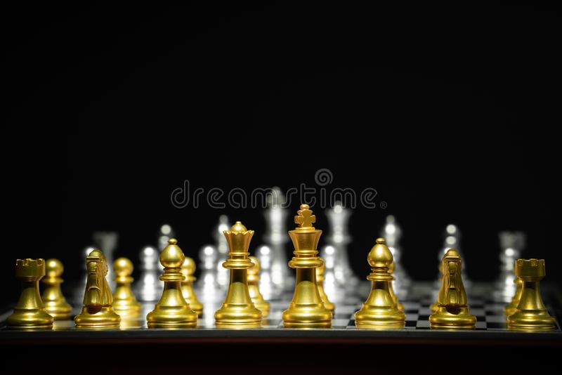 Jogo de mesa da xadrez fotografia de stock royalty free