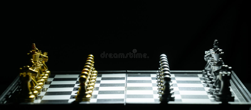 Jogo de mesa da xadrez fotografia de stock