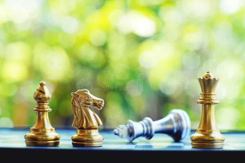 Jogo de mesa da xadrez, conceito competitivo do negócio, espaço da cópia fotografia de stock royalty free
