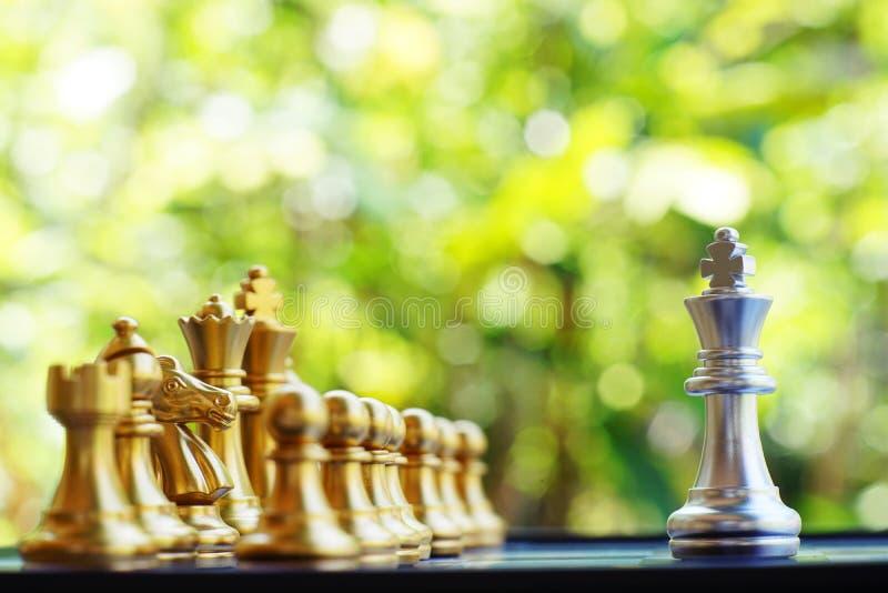 Jogo de mesa da xadrez, conceito competitivo do negócio, espaço da cópia foto de stock royalty free