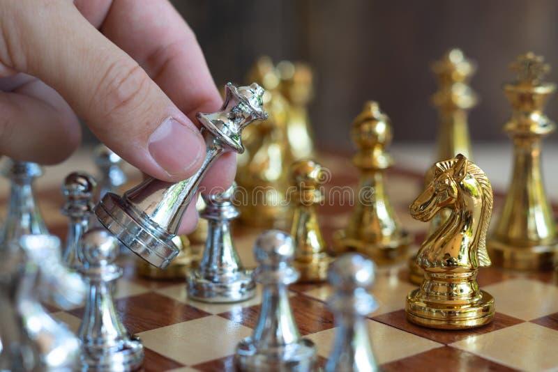 Jogo de mesa da xadrez, conceito competitivo do negócio fotografia de stock royalty free