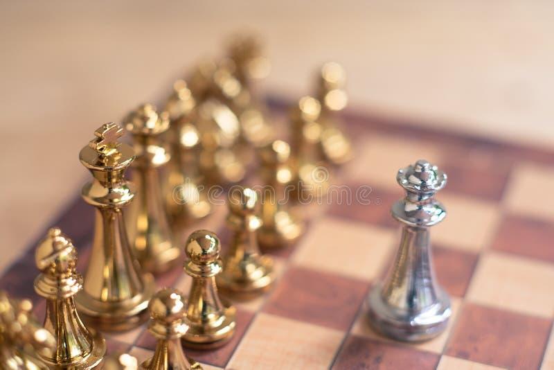 Jogo de mesa da xadrez, conceito competitivo do neg?cio, espa?o da c?pia fotografia de stock royalty free