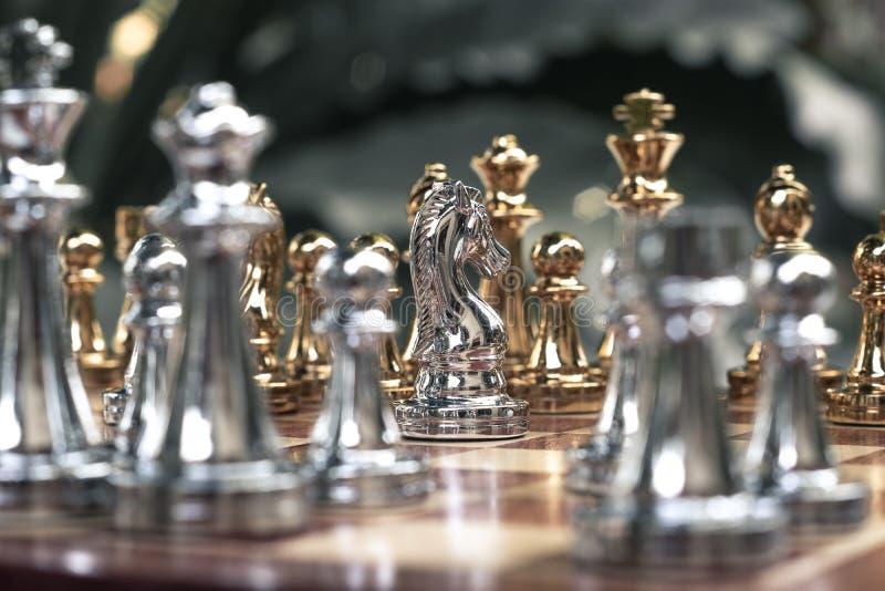 Jogo de mesa da xadrez, conceito competitivo do neg?cio imagem de stock royalty free