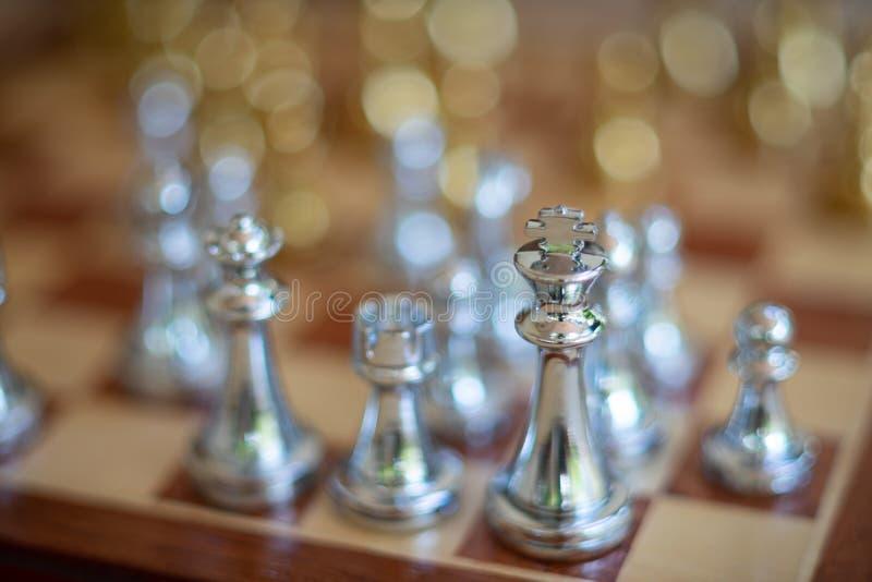 Jogo de mesa da xadrez, conceito competitivo do neg?cio fotografia de stock royalty free