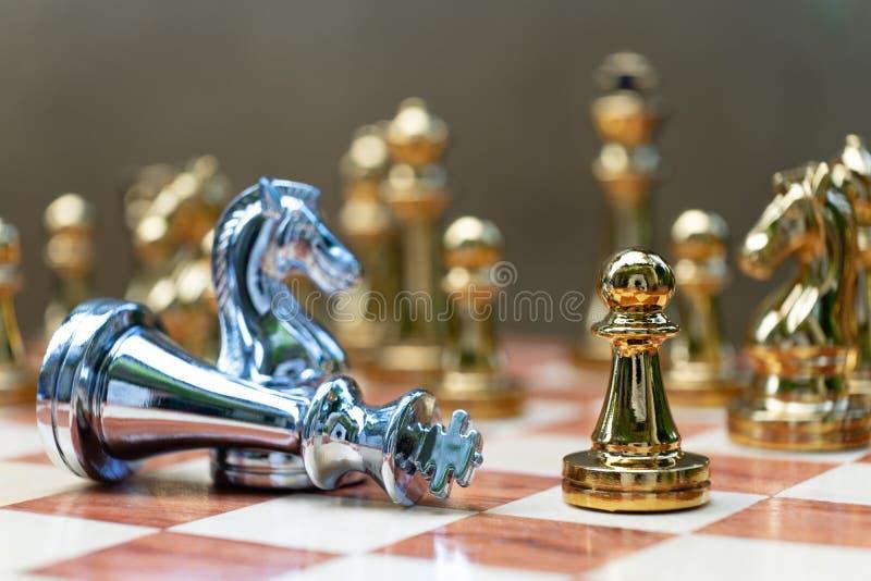 Jogo de mesa da xadrez, conceito competitivo do neg?cio fotos de stock royalty free