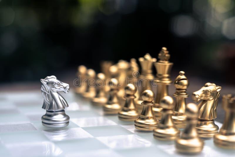 Jogo de mesa da xadrez, conceito competitivo do neg?cio imagens de stock