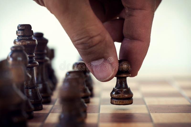 Jogo de mesa da xadrez, conceito competitivo do neg?cio imagens de stock royalty free