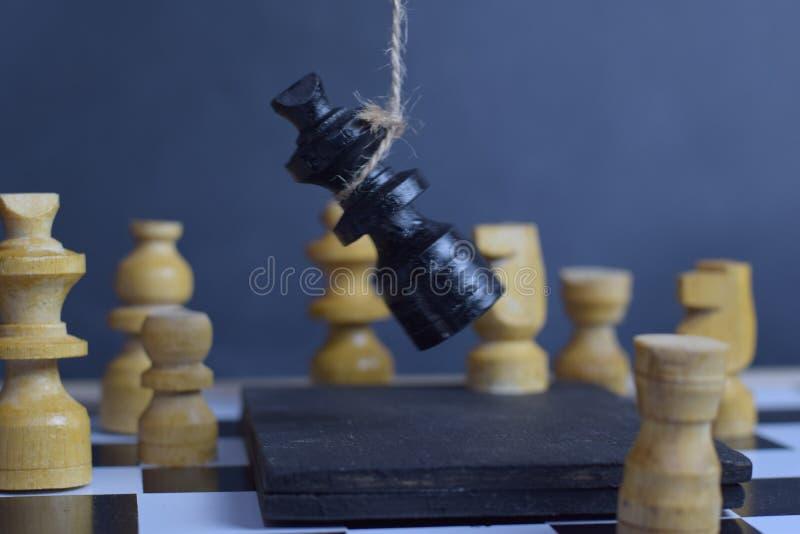 Jogo de mesa da xadrez Conceito do planejamento estratégico e da inteligência imagens de stock