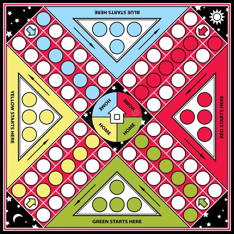 Jogo de mesa de Ludo ilustração stock