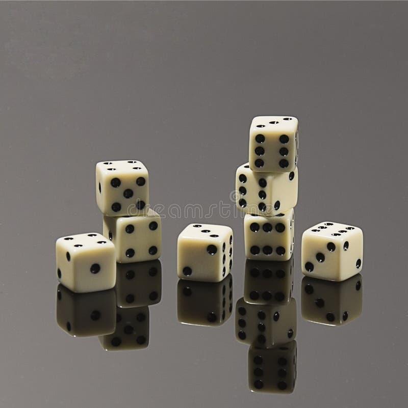 Jogo de mesa de jogo para a empresa dos dados fotografia de stock