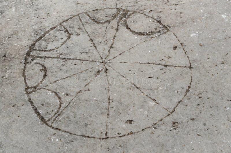 Jogo de mesa romano antigo em Philippi fotos de stock royalty free
