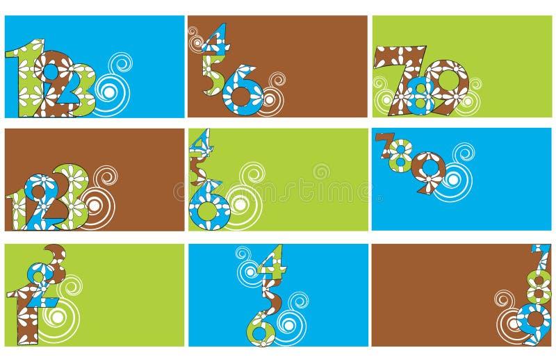 Jogo de moldes dos cartões ilustração do vetor