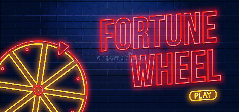Jogo de néon do botão da fortuna ilustração do vetor