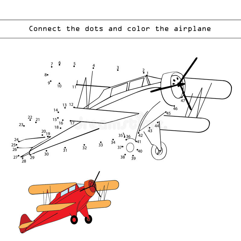 Jogo de números (avião) ilustração stock