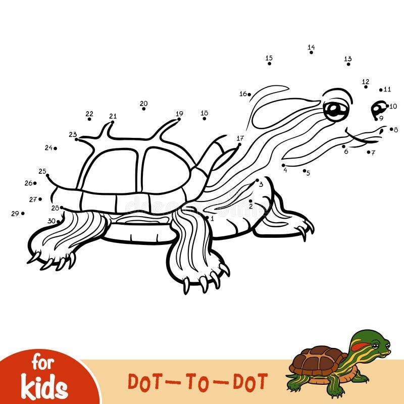 Jogo de números, jogo para crianças, slider da lagoa ilustração stock