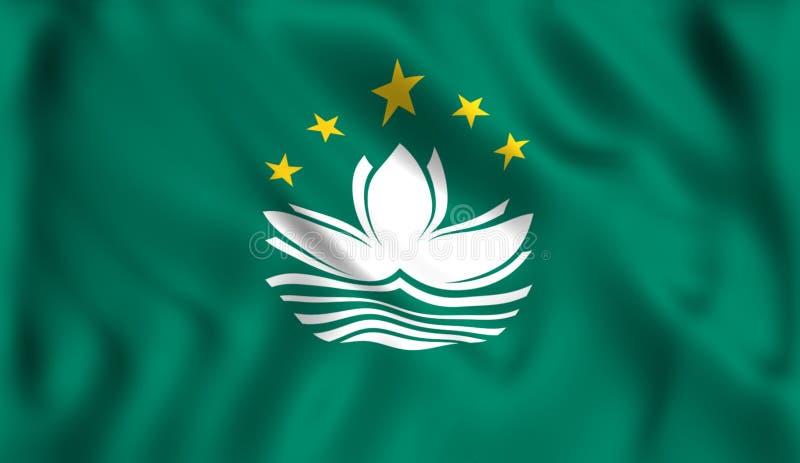 Jogo de ondulação da cidade da porcelana do símbolo da bandeira de Macau ilustração royalty free