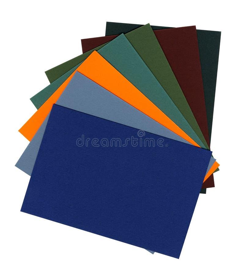 Jogo de papéis coloridos fotos de stock royalty free