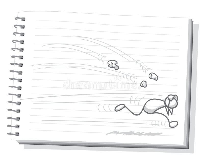 Jogo de pedra ilustração stock