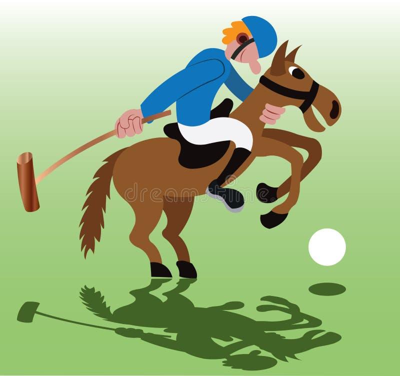 Jogo de Polo Sport ilustração stock