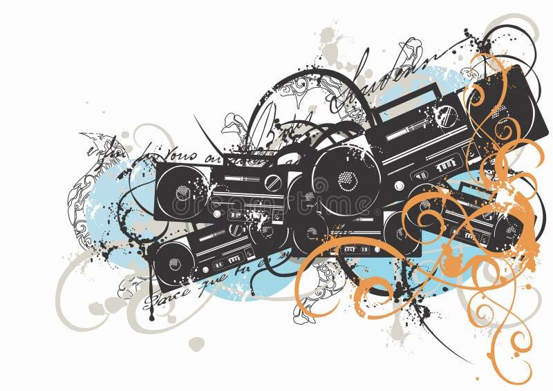 Jogo de rádio ilustração royalty free