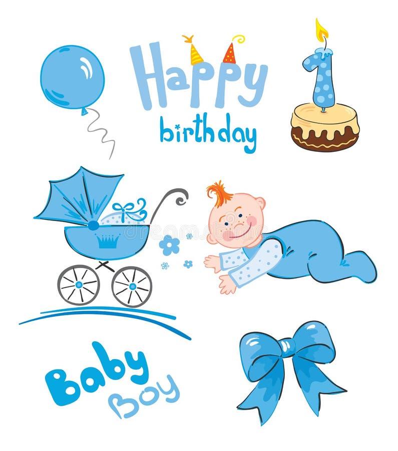 Jogo de recém-nascido ilustração royalty free
