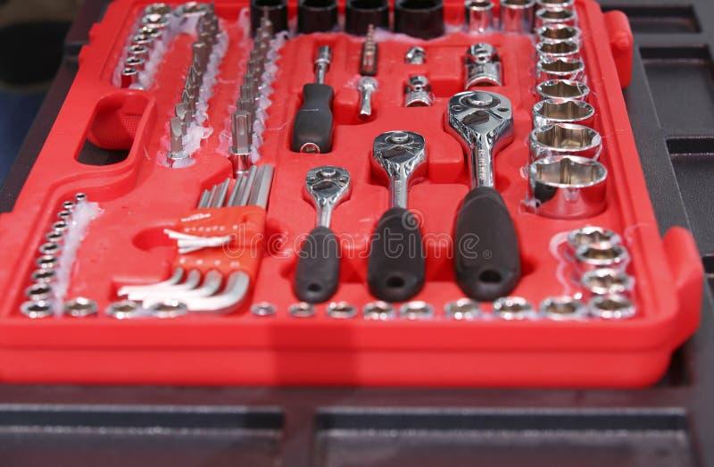 Jogo de reparação de automóveis fotografia de stock