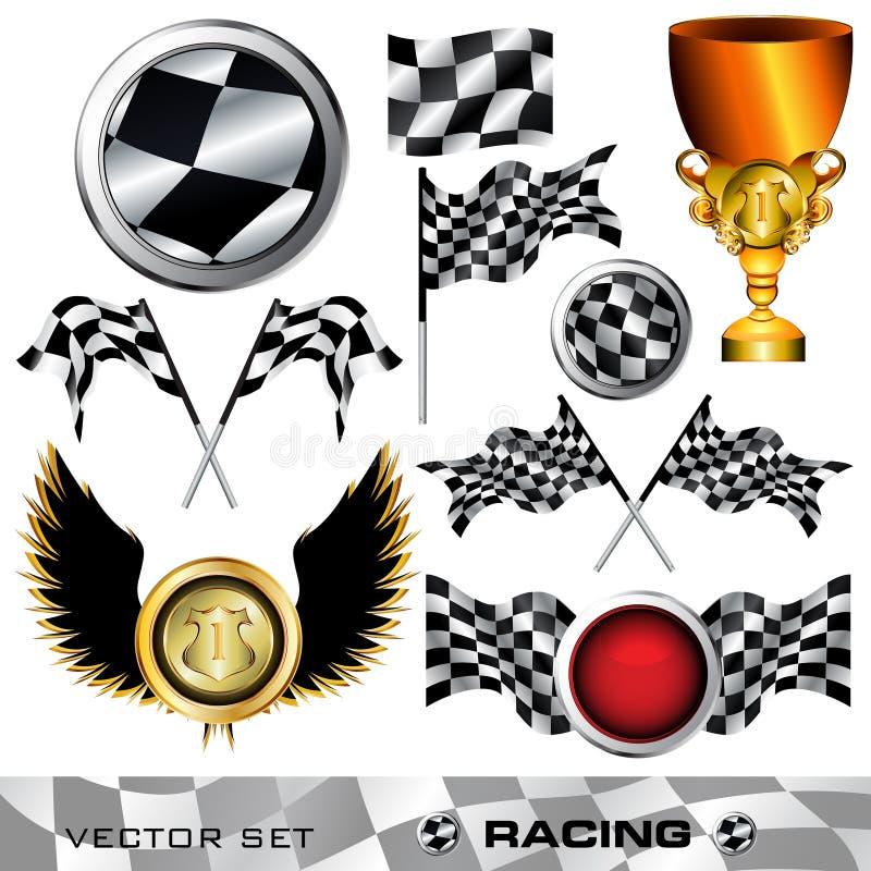 Jogo de símbolo Checkered ilustração do vetor