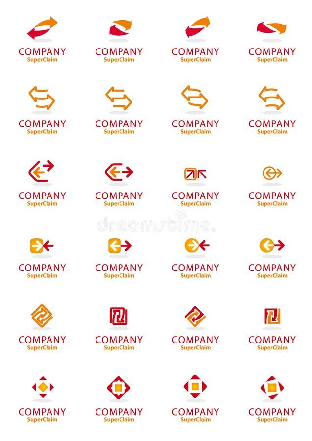 Jogo de símbolos corporativos do logotipo da seta do vetor ilustração do vetor