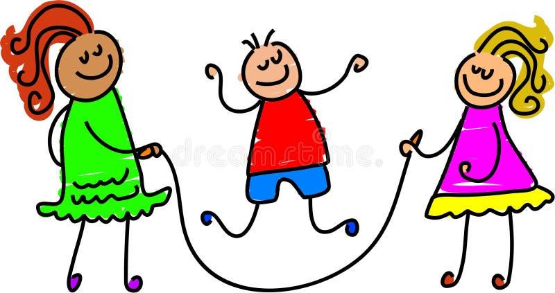 Jogo de salto ilustração do vetor