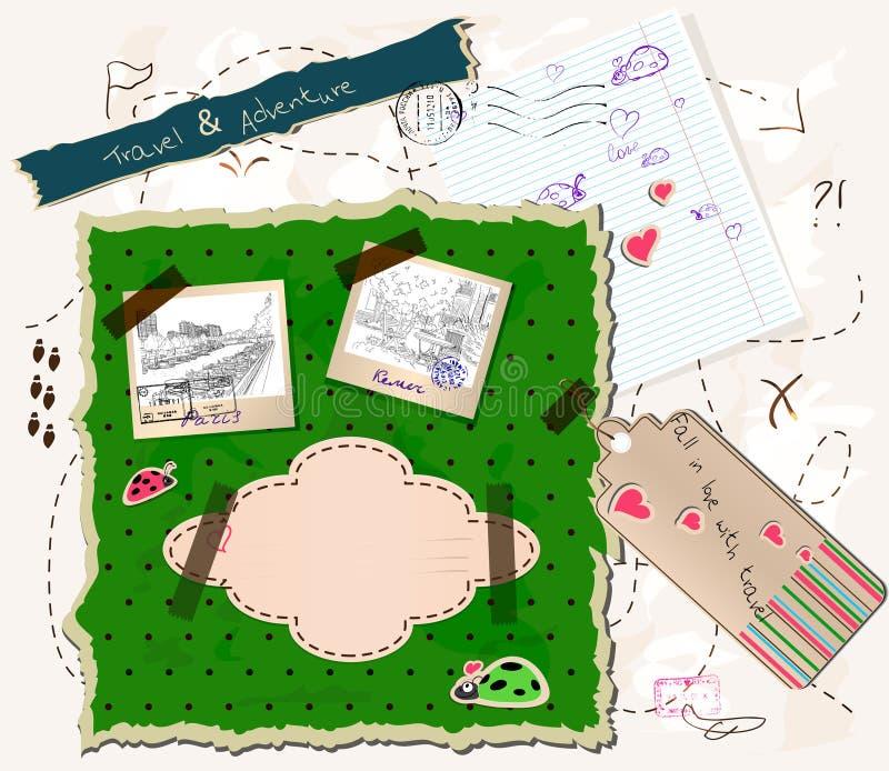Jogo de Scrapbooking. ilustração do vetor