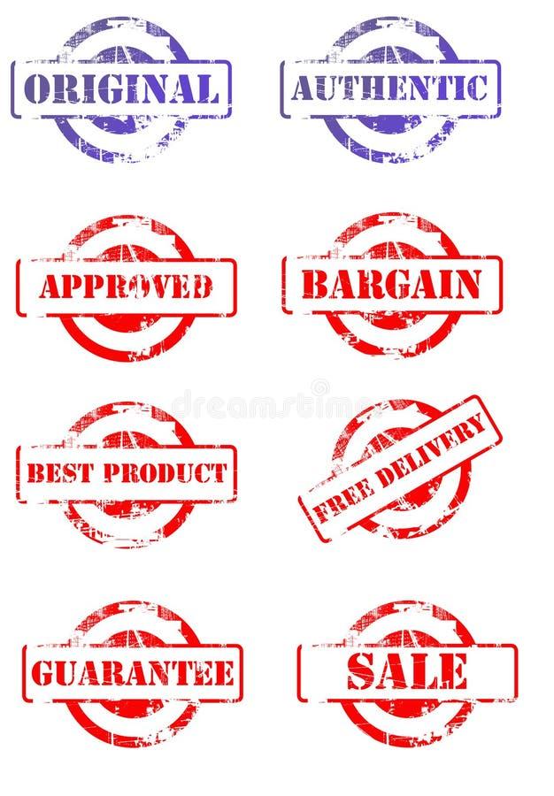 Jogo de selos de negócio ilustração do vetor