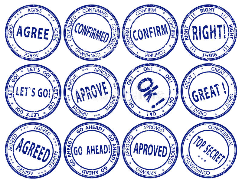 Jogo de selos de negócio redondos - vetor ilustração do vetor