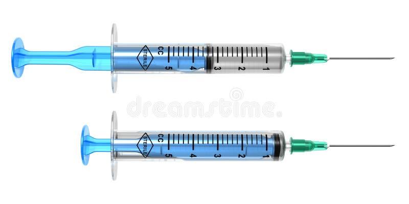 Jogo de seringas médicas ilustração royalty free