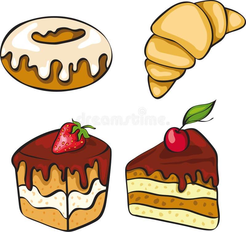 Jogo de sobremesas de vista pecadores ilustração stock