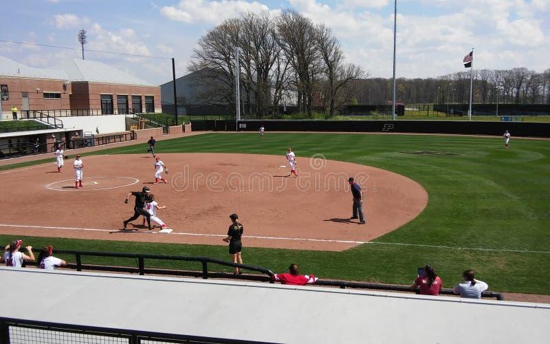 Jogo de softball de Purdue-Wisconsin fotografia de stock