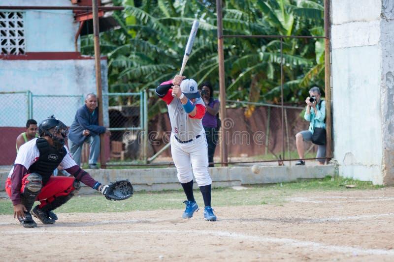 Jogo de softball em Havana Cuba imagens de stock royalty free