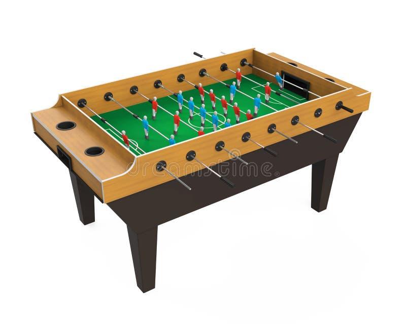 Jogo de tabela do futebol de Foosball isolado fotos de stock