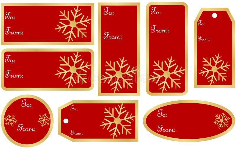 Jogo de Tag do presente do Natal ilustração do vetor