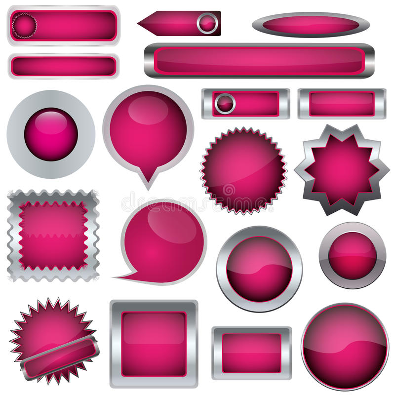 Jogo de teclas cor-de-rosa ilustração royalty free