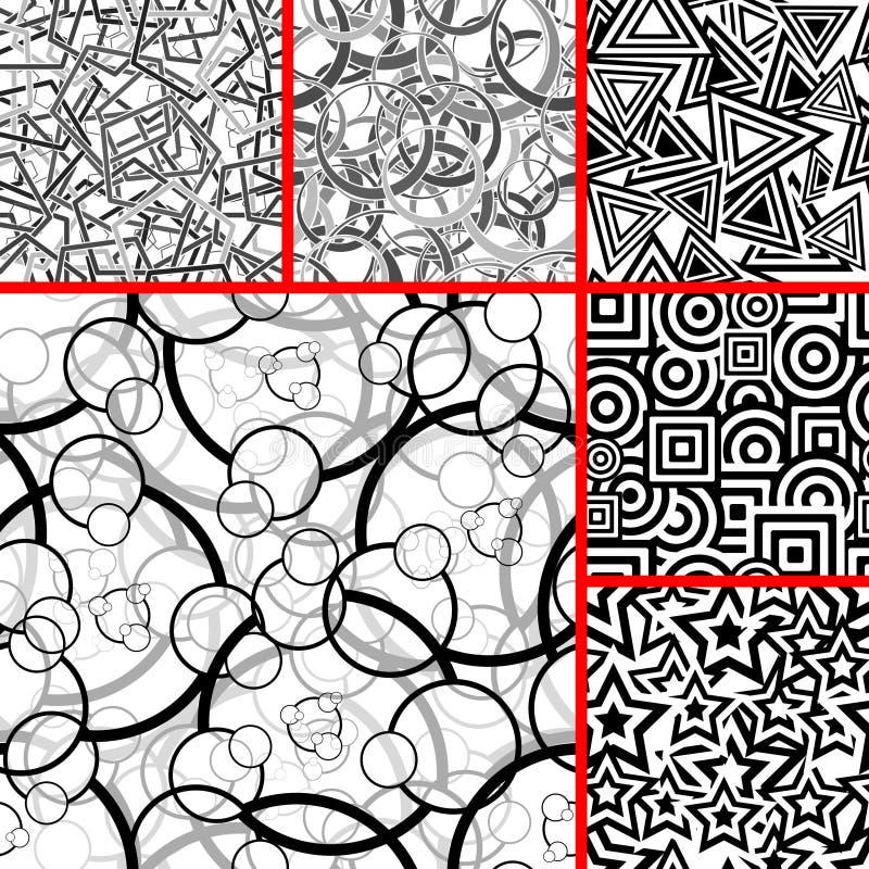 Jogo de testes padrões sem emenda ilustração royalty free