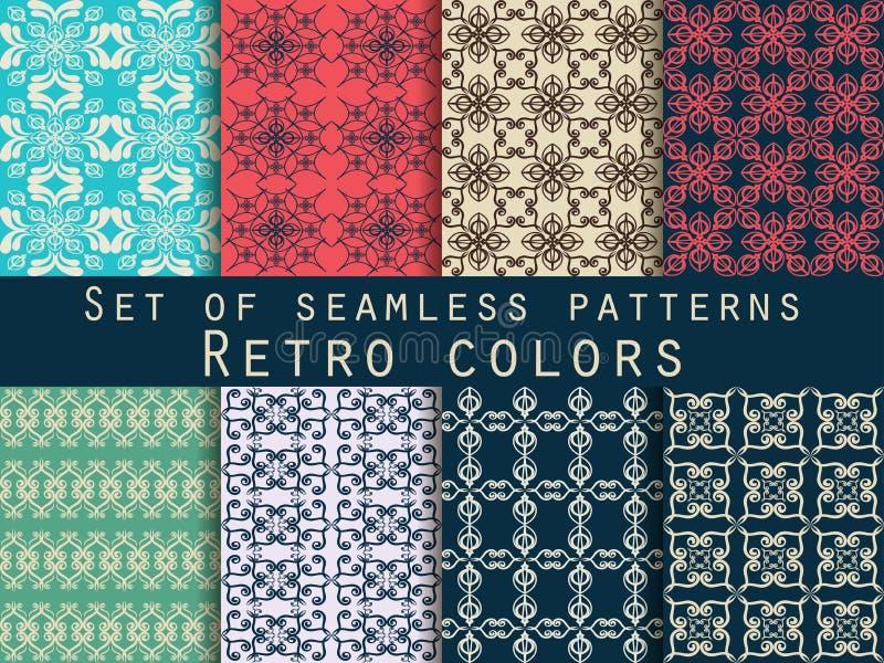 Jogo de testes padrões sem emenda Testes padrões geométricos O teste padrão para o papel de parede, as telhas, as telas e os proj ilustração stock