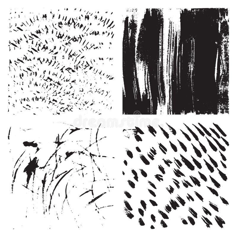 Jogo de texturas do grunge ilustração do vetor