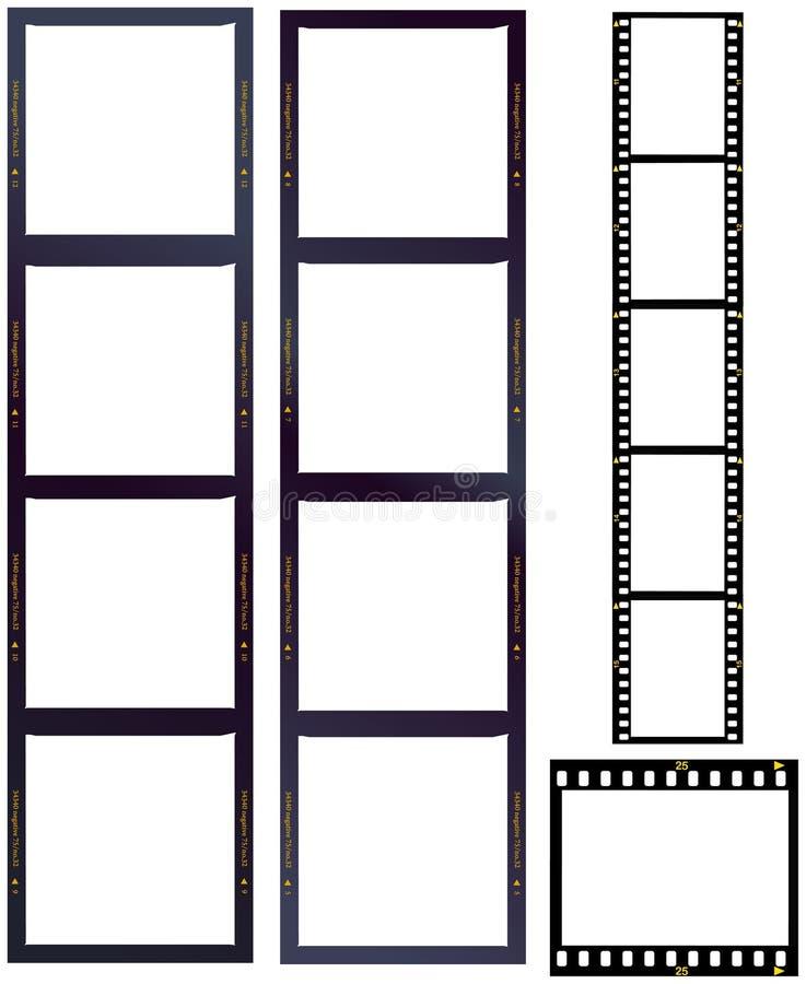 Jogo de tiras da película ilustração do vetor