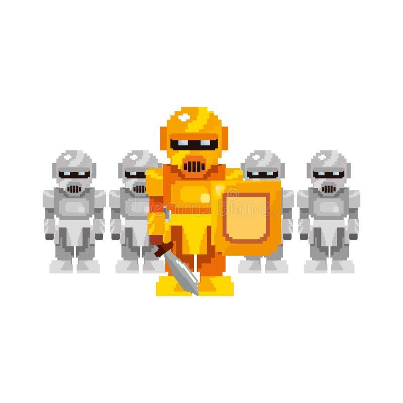 Jogo de vídeo do pixel ilustração royalty free
