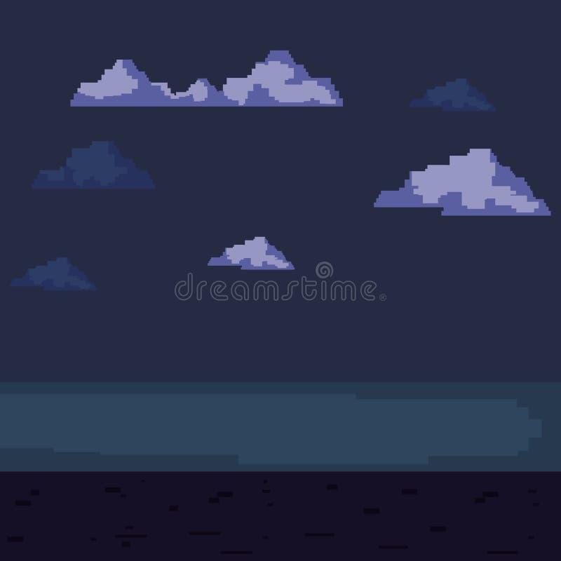 Jogo de vídeo do pixel ilustração stock