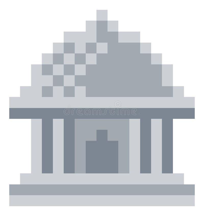 Jogo de vídeo mordido Art Icon do pixel 8 do museu ilustração do vetor