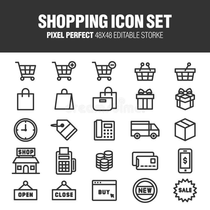 Jogo do ícone da compra ilustração royalty free