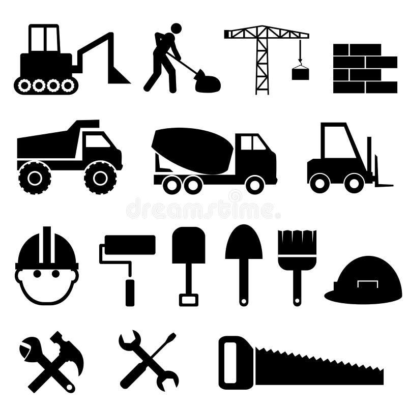 Jogo do ícone da construção ilustração royalty free